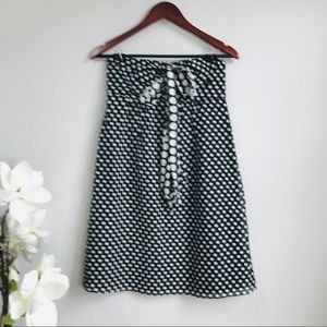 The Limited polka dots strapless cotton dress(433)